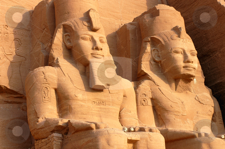 Abu Simbel, Egypt stock photo, Temple of Ramesses II, Abu Simbel, Egypt. One of the ancient Egypt&#039;s greatest monuments. by John Young