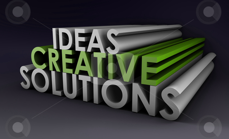 Creative Ideas and Solutions stock photo, Creative Ideas and Solutions as 3d Illustration by Kheng Ho Toh