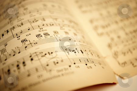 Old sheet music stock photo, Old sheet music. Shallow depth-of-field. by © Ron Sumners