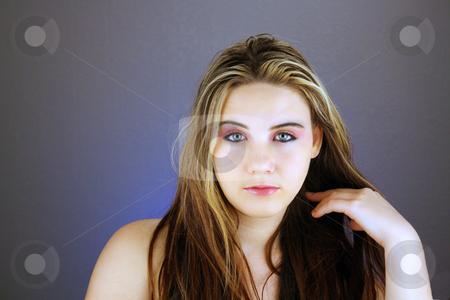 Beautiful Teen Girl Headshot (2) stock photo, Studio headshot of a lovely teenage girl. by Carl Stewart