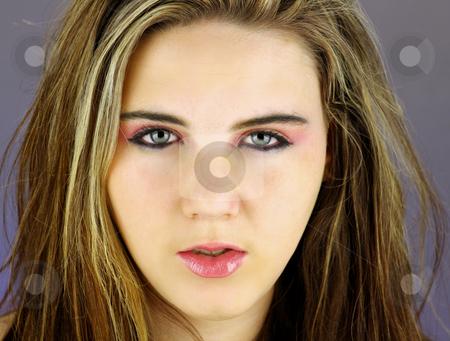 Beautiful Teen Girl Headshot (4) stock photo, Studio headshot of a lovely ...