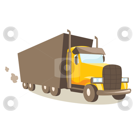 Cartoon truck stock photo, cartoon truck vector by kariiika