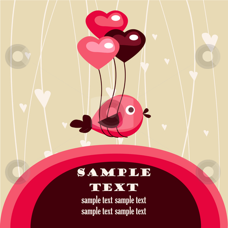 Valentine's day card with place for your text stock photo,  Valentine's day card with place for your text, vector illustration by kariiika