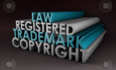 Registered and Copyright Trademark stock photo, Registered and Copyright Trademark Law in 3d by Kheng Ho Toh
