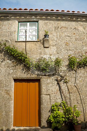 Ancient country-house stock photo, Ancient country-house in the village of Monsanto, in Portugal by Neonn