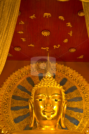Wat Phra Singh stock photo, detail of the temple Wat Phra Singh in Chiang Mai by Juliane Jacobs