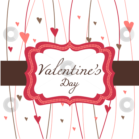 Card for Valentine's Day stock photo, card for Valentine's Day, vector illustration by kariiika