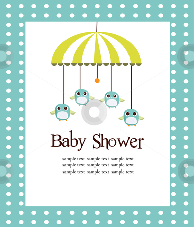 Baby shower card for boys  stock photo, Baby shower card for boys vector illustration by kariiika