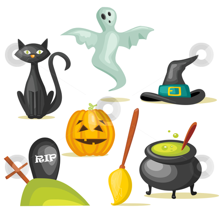 Halloween icons stock photo, Halloween icons, vector illustration  by kariiika