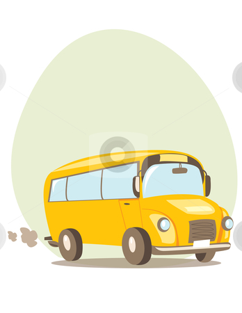 School bus  stock photo, School bus vector illustration  by kariiika