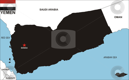 yemen map flag. #801017464 Yemen Map