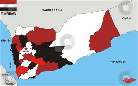 yemen map flag. #801017466 Yemen Map