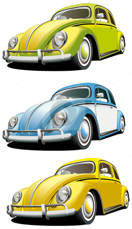Old-fashioned car set stock photo, Vectorial icon set of old-fashioned cars isolated on white backgrounds. Every car is in separate layers. File contains gradients and blends. by busja