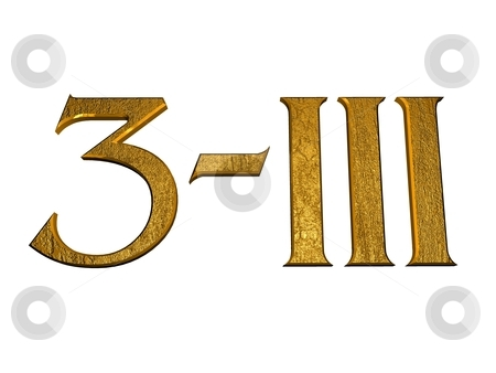 numbers and with Roman numeral stock photo, 3d golden normal numbers ...