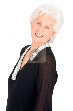 Elegant elderly woman stock photo, elegant elderly woman by ambrophoto