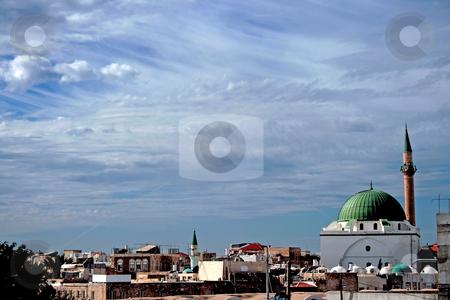 Antique Sinan basha mosque  stock photo,  Antique Sinan basha mosque in Pisan square in port of Old Akko by Tatjana Keisa