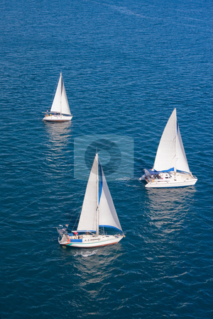 Regatta in indian ocean stock photo, Regatta in indian ocean, sailboat and catamaran by Pierre-Yves Babelon
