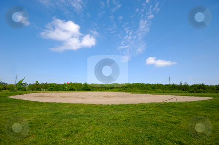 Bunker stock photo, Sand bunker on a golf course by Lars Christensen
