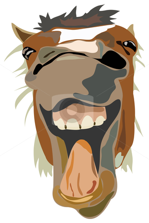 Vector Illustration of the laughing horse stock photo, Vector Illustration of the laughing horse isolated by vetdoctor
