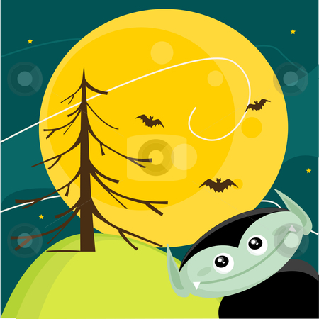 Cute Halloween background stock photo, Cute Halloween background, vector illustration by kariiika