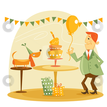 Birthday party  stock photo, Birthday party vector illustration by kariiika