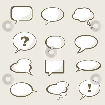 Set of vector speech bubble  stock photo, Set of vector speech bubble with space for your text by kariiika