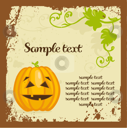 Halloween background with pumpkins stock photo, Halloween background with pumpkins, vector illustration by kariiika