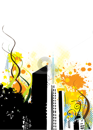 Urban abstract illustration stock photo, Urban abstract grunge composition. Vector illustration by kariiika