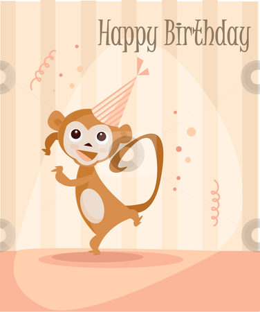 Birthday card for girls stock photo, Birthday card for