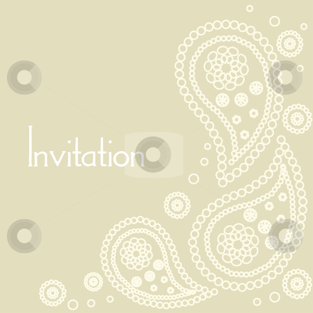 Wedding invitation card  stock photo, wedding invitation card vector illustration by kariiika