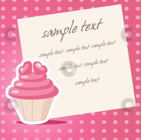 Vintage cupcake background  stock photo, Vintage cupcake background with place for your text by kariiika