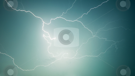 Nature photography - lightning - discharge in sky stock photo, Nature photography - lightning - electrical discharge in the sky by Alexey Romanov