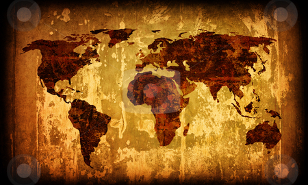 World map vintage artwork stock photo, world map vintage artwork - perfect background with space for text or image by ilolab