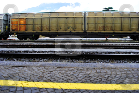 Freight train stock photo, freight train stopped at the station by freeteo