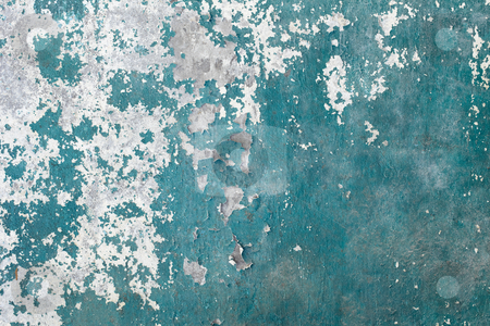 Green grunge concrete weathered wall background stock photo, The green grunge concrete weathered wall background by Alexey Romanov