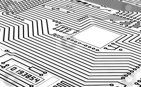 High-tech graphics monochrome background stock photo, High-tech graphics monochrome black and white background by Alexey Romanov