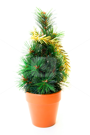 Christmas tree toy stock photo, christmas tree toy isolated on white background by olinchuk