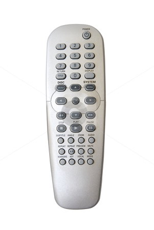 TV remote control  stock photo, TV remote control isolated on white background by olinchuk