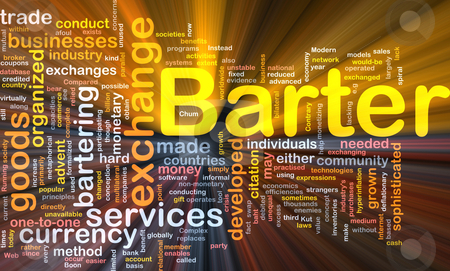 Barter background concept glowing stock photo, Background concept wordcloud illustration of barter glowing light by Kheng Guan Toh