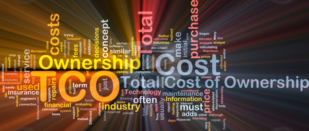 Total cost of ownership background concept glowing stock photo, Background concept wordcloud illustration of total cost of ownership glowing light by Kheng Guan Toh
