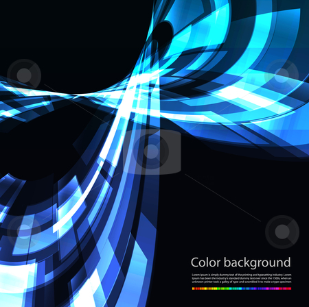 Abstract retro technology vector background stock photo, Abstract retro technology vector background on black. Eps 10 by sermax55