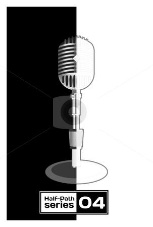 Retro Microphone  stock photo, Retro Microphone. Half empty series by sermax55
