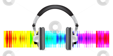 Vector illustration of studio headphones stock photo, Vector illustration of studio headphones by sermax55