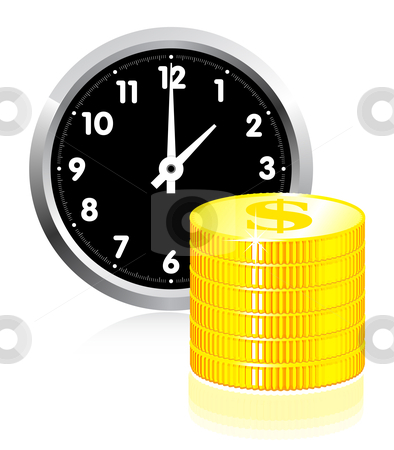 Time is money concept stock photo, Time is money concept illlustration on white by sermax55