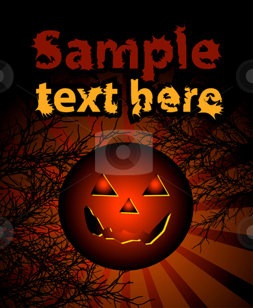 Halloween background, vector illustration  stock photo, Halloween background, vector illustration. No transparency and effects. by sermax55