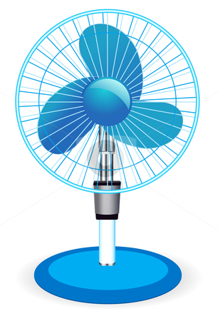 Table fan - vector illustration  stock photo, table fan - vector illustration  by sermax55