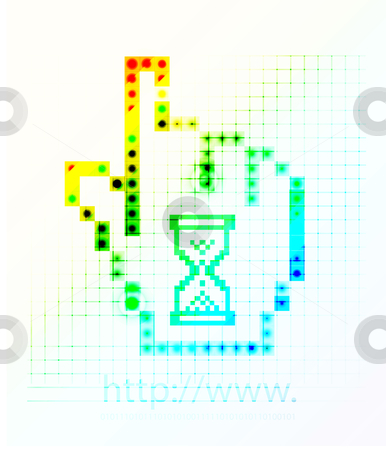 Hand mouse symbol stock photo, hand mouse symbol, eps10 Vector illustration. by sermax55