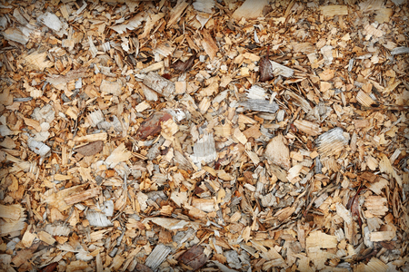 Waste of woodworking manufacture - sawdust background stock photo, Waste of woodworking manufacture - sawdust close up - a background by Alexey Romanov