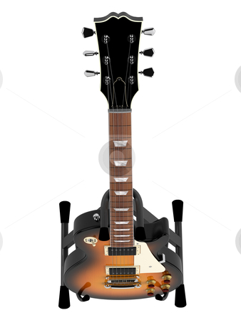 Electric guitar stock photo, Electric guitar isolated on white background by Nmorozova