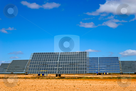 Solar panel field stock photo, solar panel field in Aragon, Spain by matthi